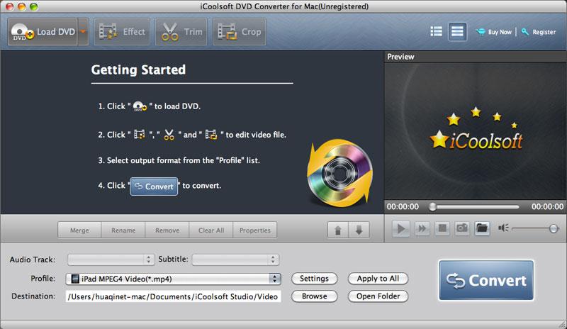 iCoolsoft DVD Converter for Mac 5.0.6 full