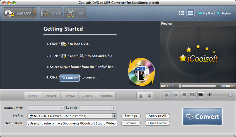 iCoolsoft DVD to MP3 Converter for Mac 5.0.6 full