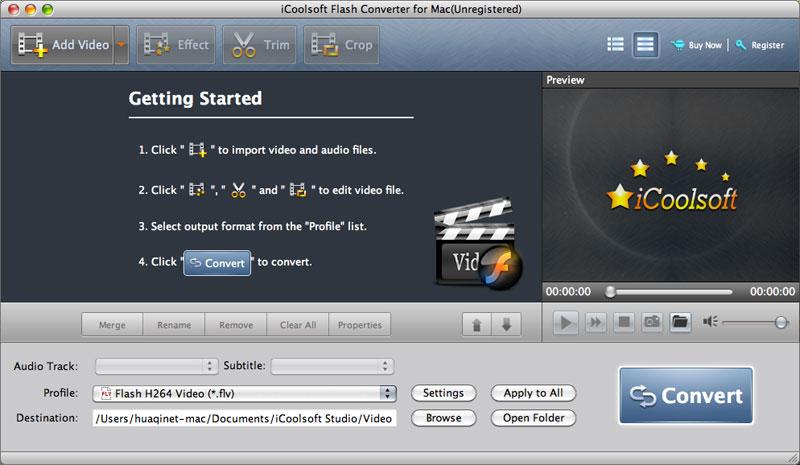 iCoolsoft Flash Converter for Mac 5.0.6 full