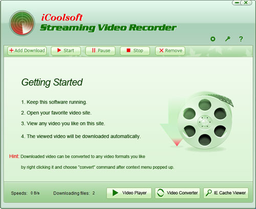 How to Record Streaming Videos? Step 1: Free download iCoolsoft Streaming ...