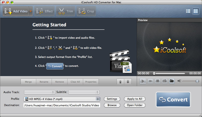 Convert HD video as you like on Mac.