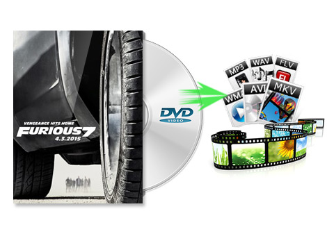 Rip DVD to various video formats