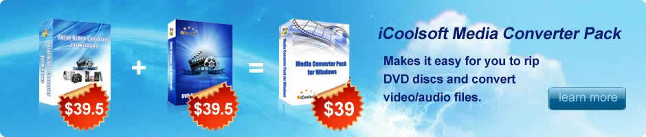 iCoolsoft Media Converter Pack