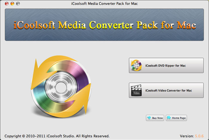 iCoolsoft Media Converter Pack for Mac