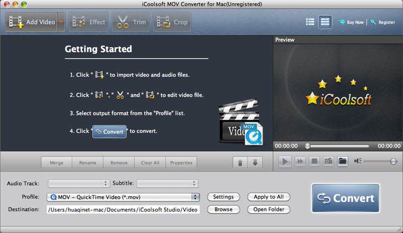 Convert MOV video as you like on Mac.