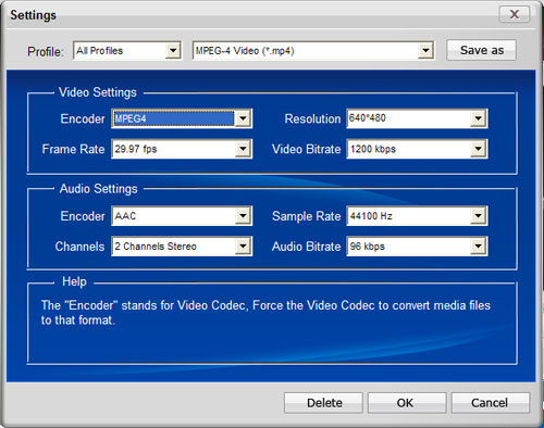 how to convert a video into mpeg format