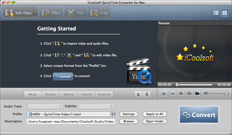 iCoolsoft QuickTime Converter for Mac 5.0.6 full